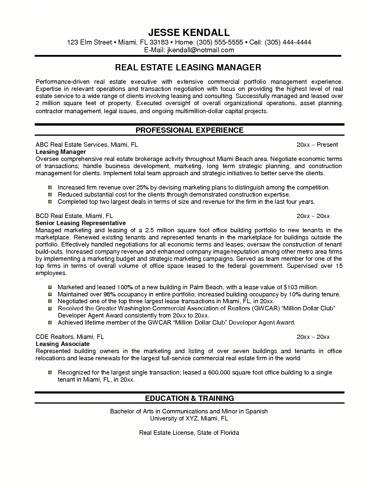 commercial property manager resume samples , Building Manager ...