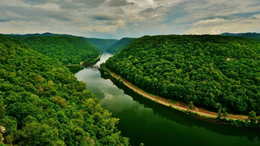 beautiful mountains trees river hd wallpapers download