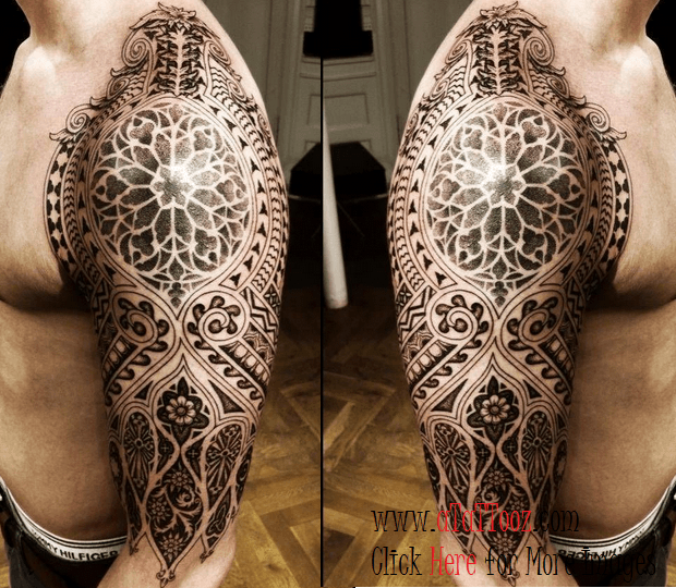 Indian Henna Tattoos Full Body: Henna India Half Sleeve Tattoo Designs For Men Image
