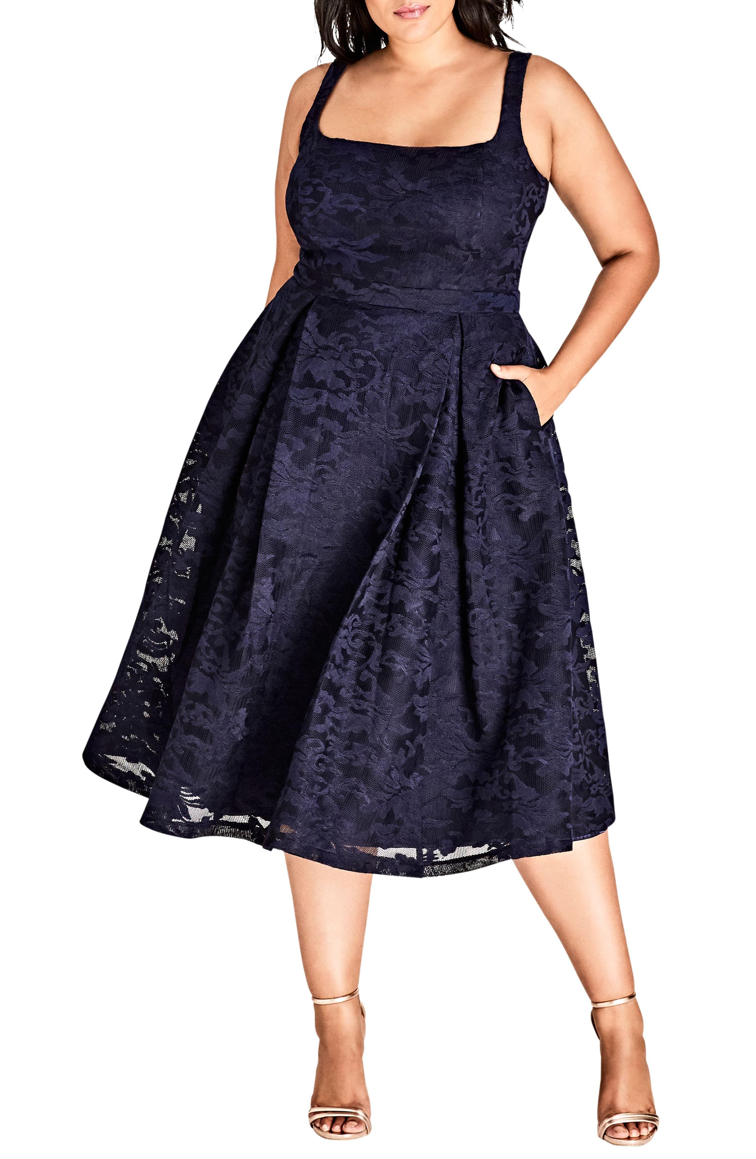 City Chic Jackie O Lace Fit Flare Dress Plus Size Nordstrom Fit Flare Dress Flare Dress Womens Dresses [ 4048 x 2640 Pixel ]