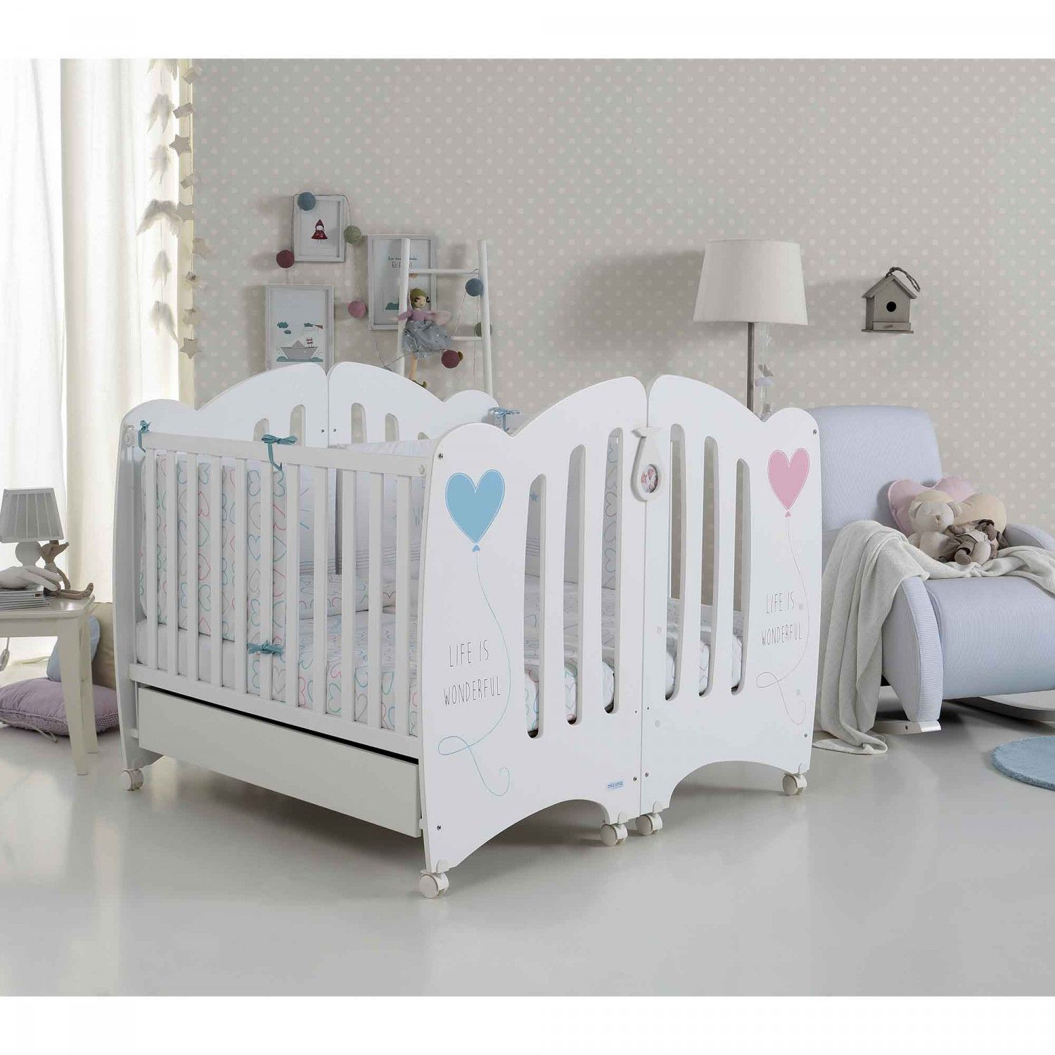 lits b b pour jumeaux wonderful de micuna accessoires baby twin baby rooms nursery twins. Black Bedroom Furniture Sets. Home Design Ideas