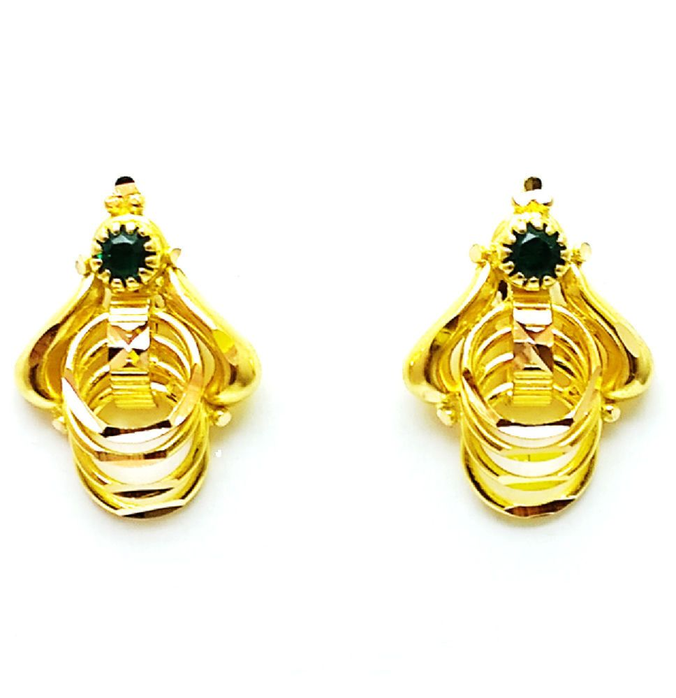 Brand New 22k 22ct 916 BIS Hallmarked Pure Gold Earrings/Tops/Stud ...