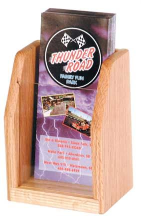 Counter Top Wood Trifold Brochure Holder