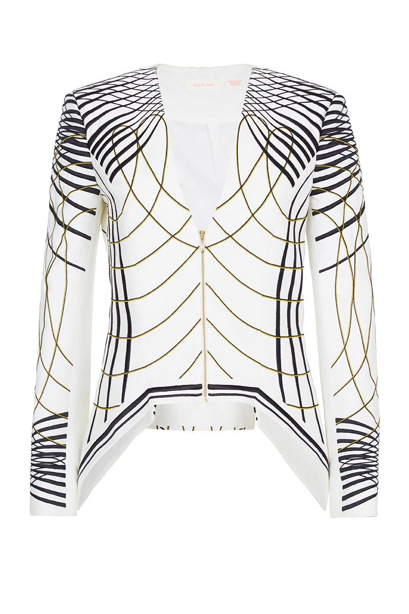 #sassandbide | THE LUCINDA jacket | #print #swirl #pattern #diamond #jacket #blazer