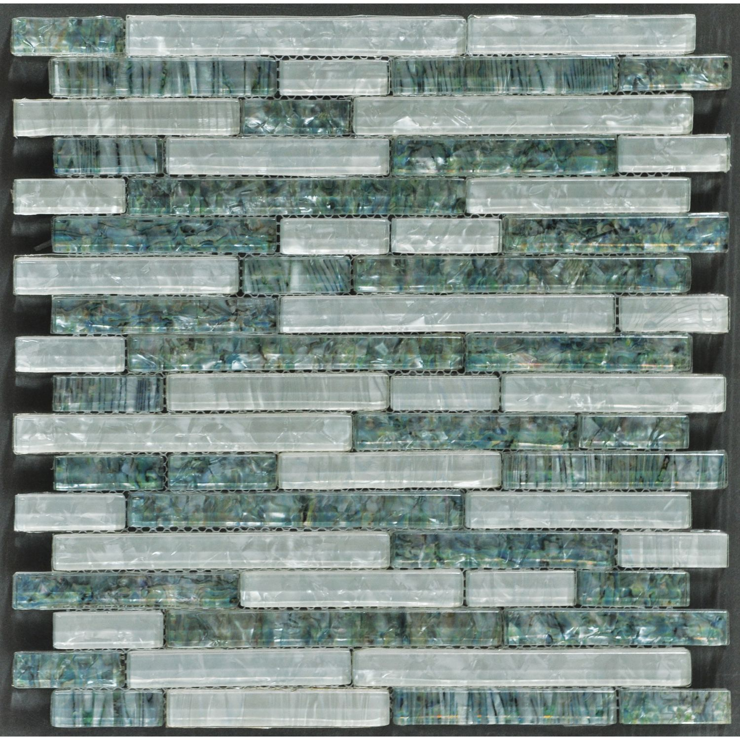 12 X 12 Decorative Tiles Tesoro 12 X 12 Whiteabalone Mixed Linear Glass Mosaic Sheet From