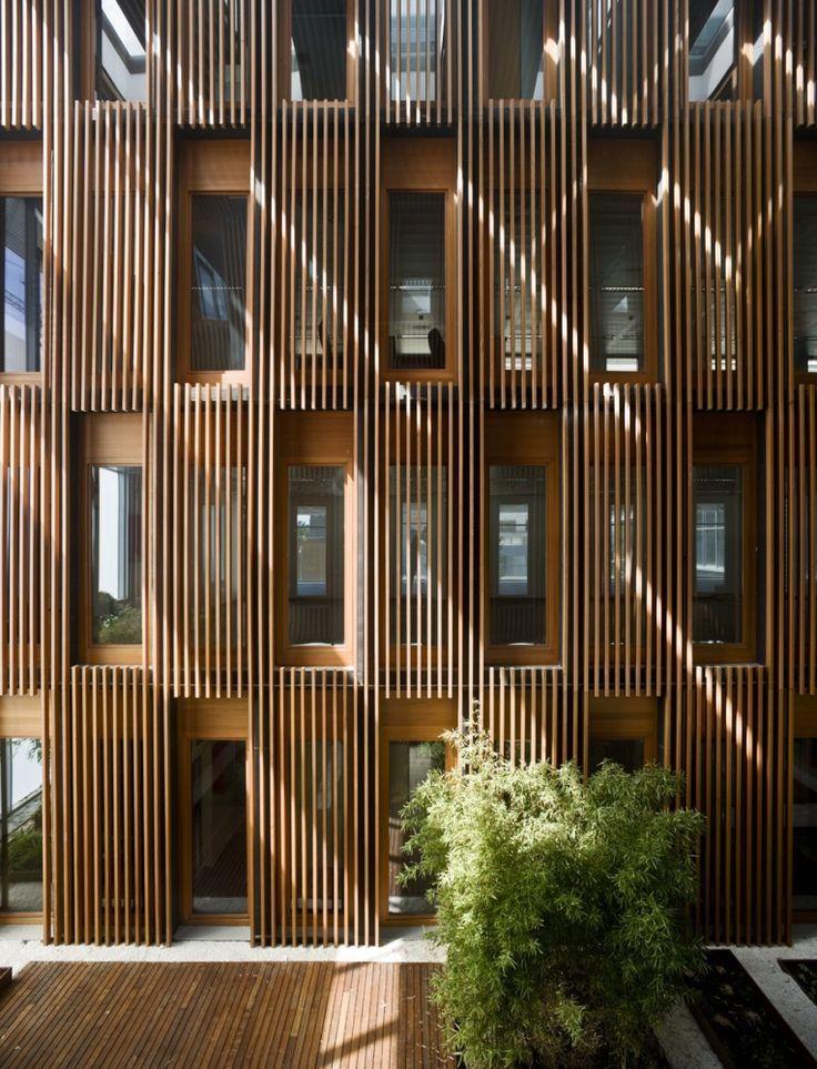Madera lamas texturas celosias pinterest madera for Arquitectura de madera
