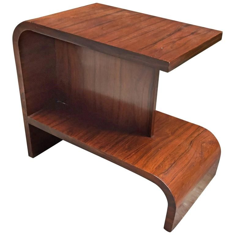 High Quality French Art Deco Rosewood End Table