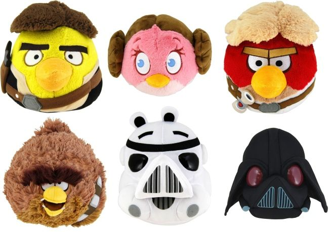 Angry Birds Star Wars plushes!!!!!!!!!