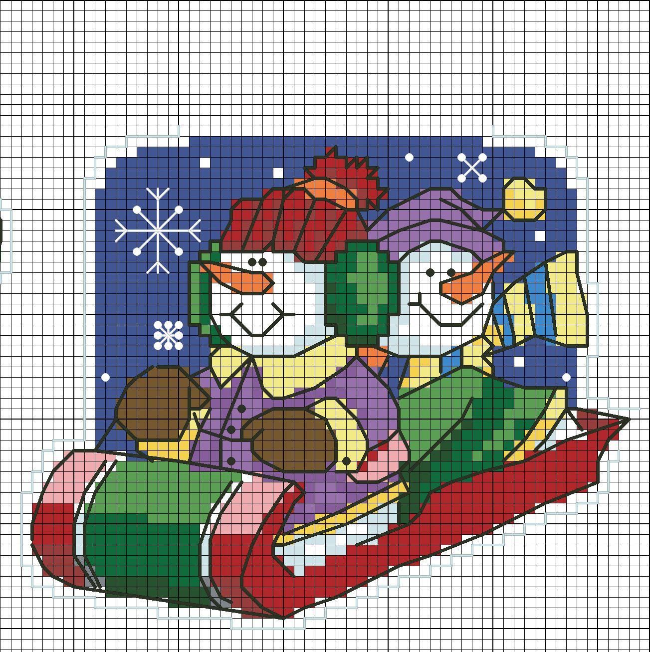 вышивка крестом схемы бесплатно новогодние