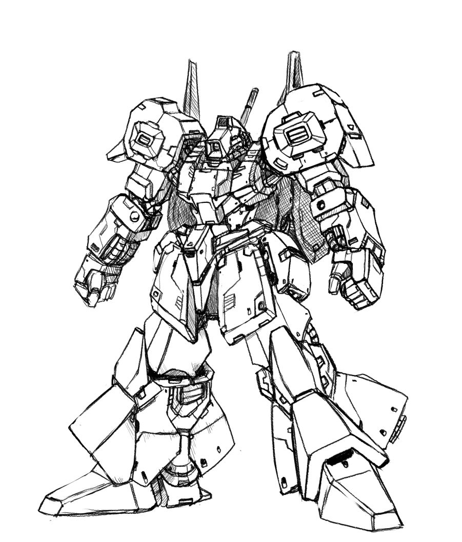 gundam drawing by ramen picking