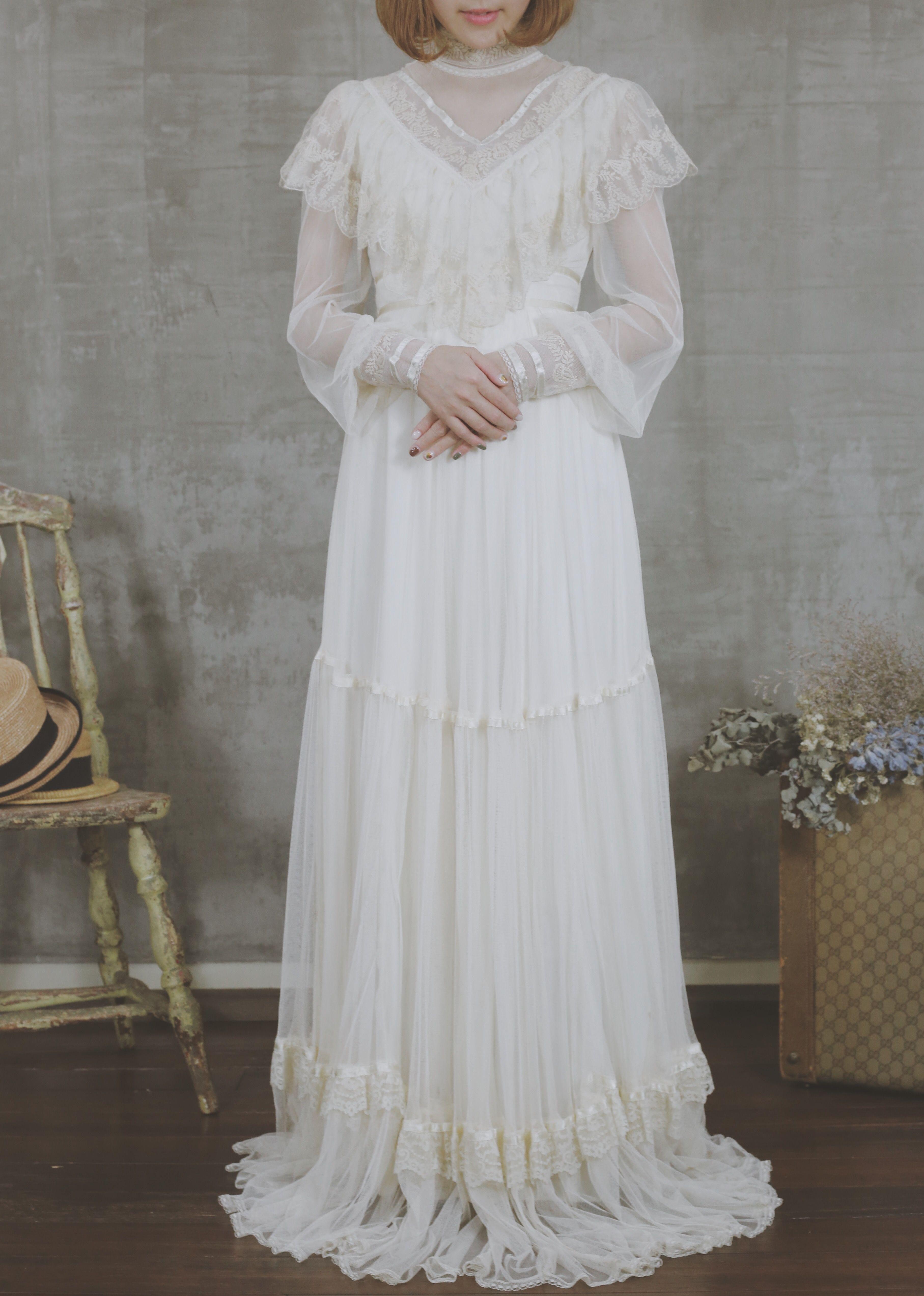 ヴィンテージドレス ヴィンテージウェディングドレス アンティークドレス ...