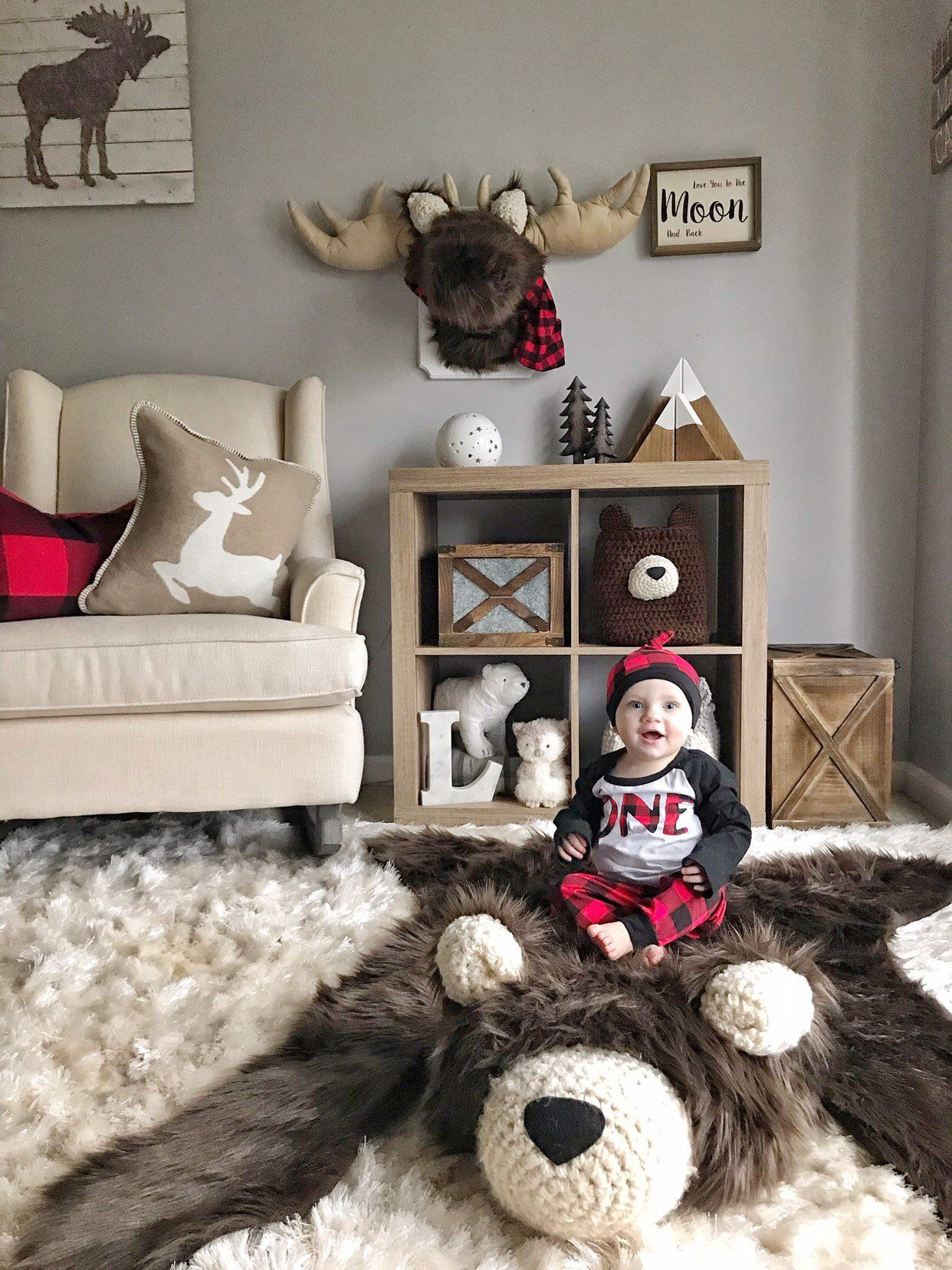 Brown Grizzly Bear Rug
