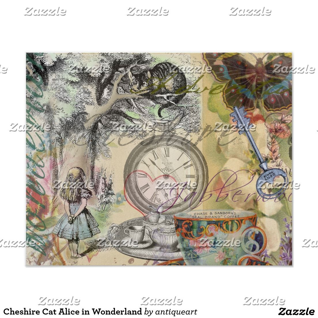 Cheshire Cat Alice In Wonderland Poster Zazzle Com With Images