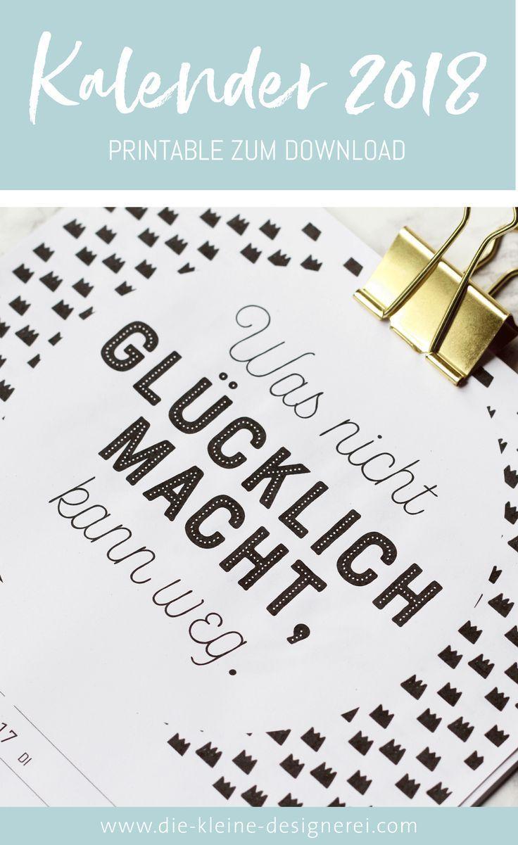 Kalender 2018 Zum Ausdrucken In Schwarz Weiss Mit Moglichkeit Zum Eintragen Von Terminen Mit Anzeige Der Kale Mit Bildern Kalender Zum Ausdrucken Kalender 2018 Kalender