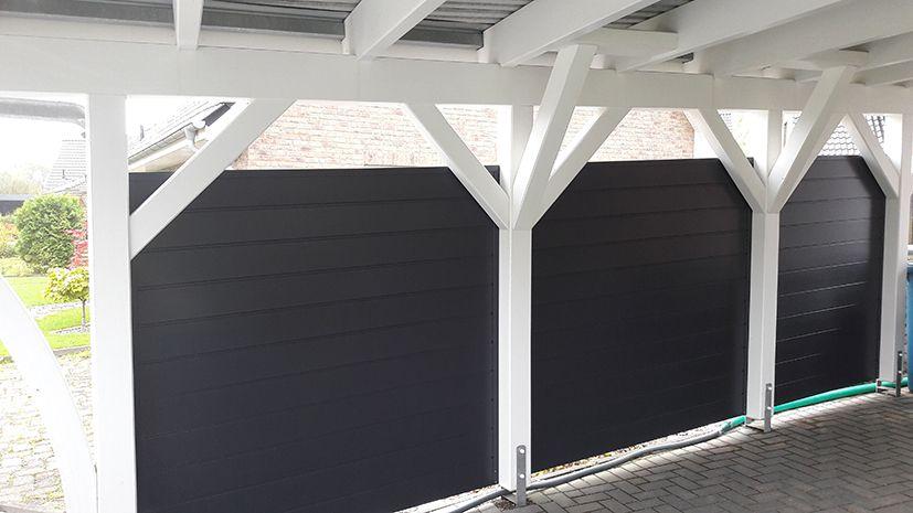 Carport Seitenverkleidung Anthrazit Carport Carports Fenster Kunststoff