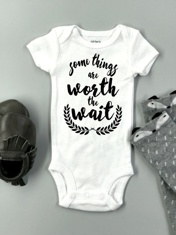 Some things are worth the wait onesie baby by ...