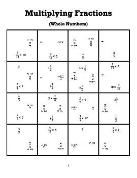 Multiplying Dividing Fractions Square Puzzles With Images