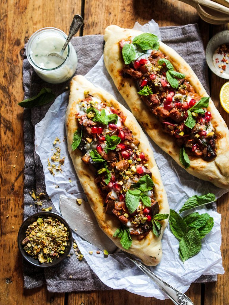 Photo of Spiced Aubergine Pide (Vegan Turkish Flatbread Pizza) – Rebel Recipes