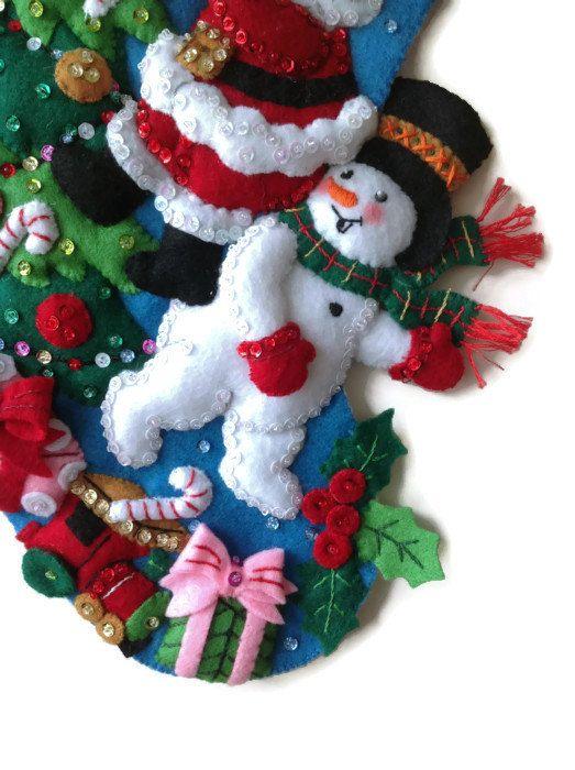 Finished Bucilla Christmas Stocking - The Finishing Touch ...