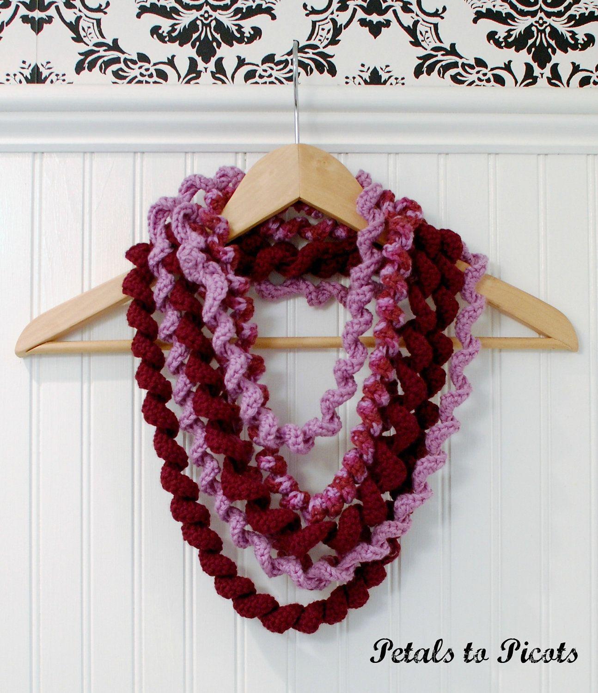 Spiral Loop Scarf Crochet Pattern. $3.50, via Etsy. | Stricken und ...