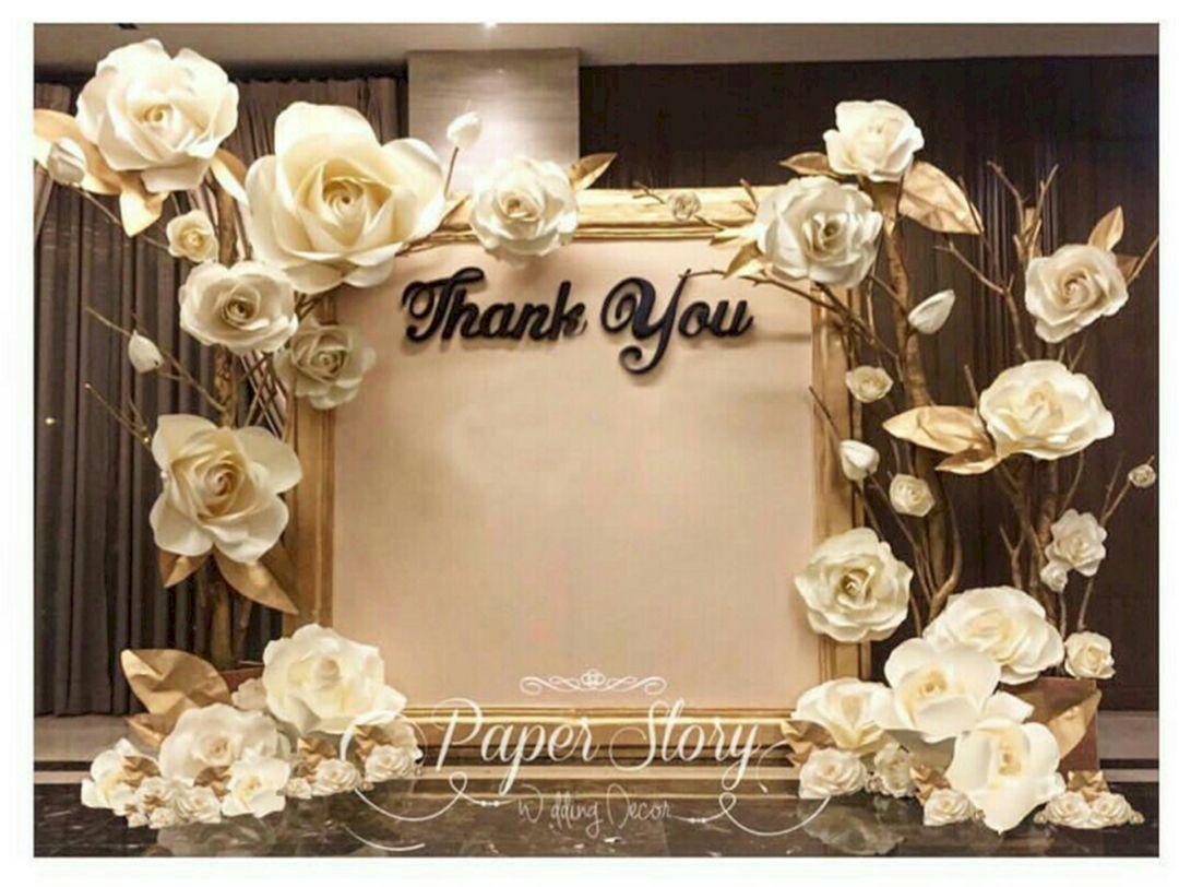 Beautiful Paper Flower Backdrop Wedding Ideas 10 Pictures Making