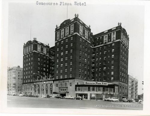 1950s The Bronx Concourse Plaza Hotel 161st Street Grand Concourse By Straatis Via Flickr Old Time Photos New York Pictures Harlem Hotel