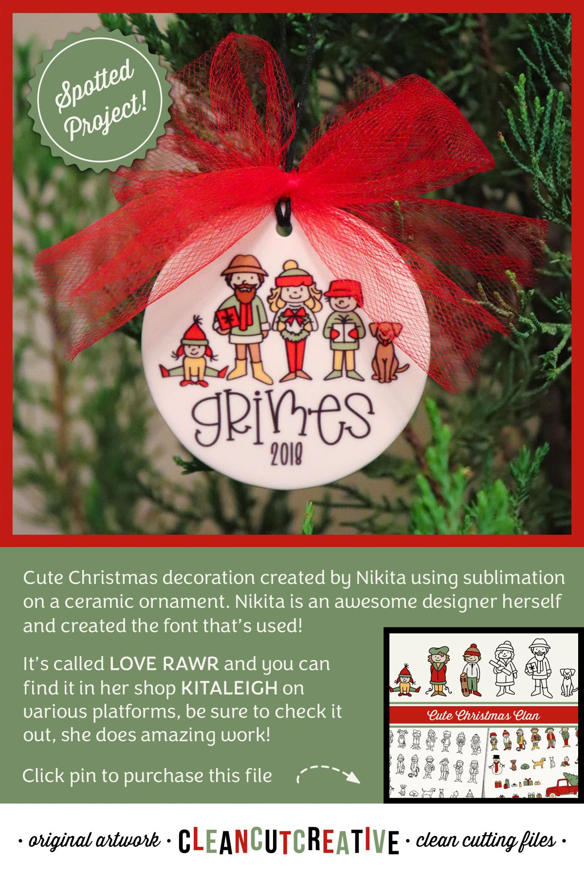 Cute Christmas Decoration Created By Nikita Using Sublimation On A Ceramic Friend Christmas Ornaments Cute Christmas Decorations Ceramic Christmas Decorations
