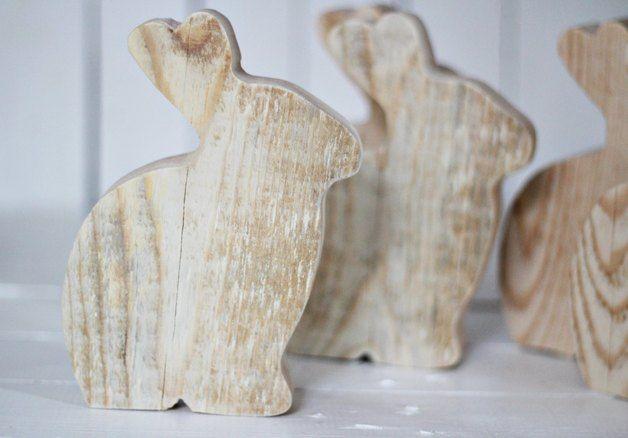 Duży drewniany zając - SeeHome - Dekoracje
