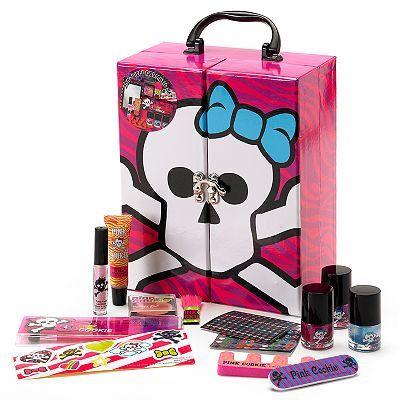 Pink Cookie Skullette Cosmetic Beauty Trunk - Girls