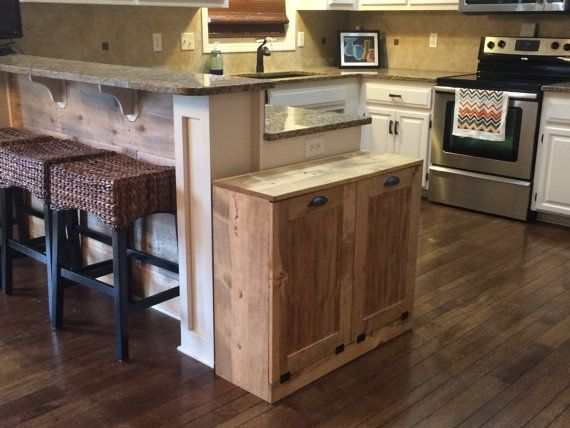 Kitchen Island With Trash Bin Unique Can Hidden Islands Cart Double Garbage Hid Building A Kitchen Portable Kitchen Island White Kitchen Cart