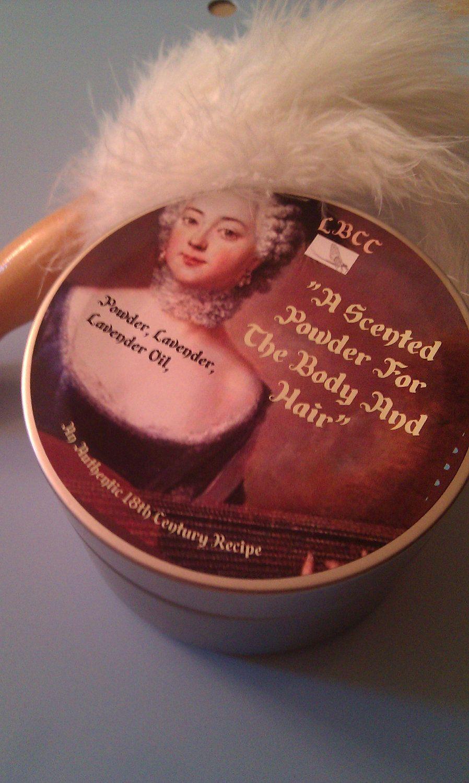 18th Century Lavender Hair and Face Powder - Original  Recipe. $10.00, via Etsy.
