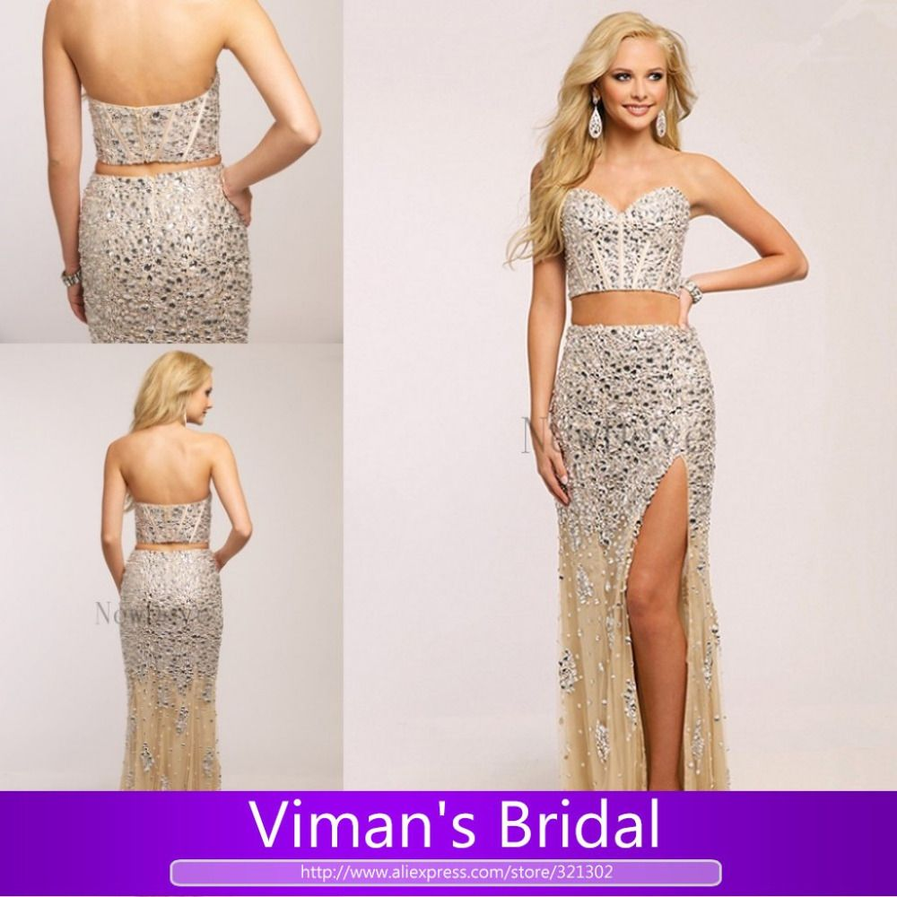 Find More Prom Dresses Information about Vintage 2 Pieces Prom ...