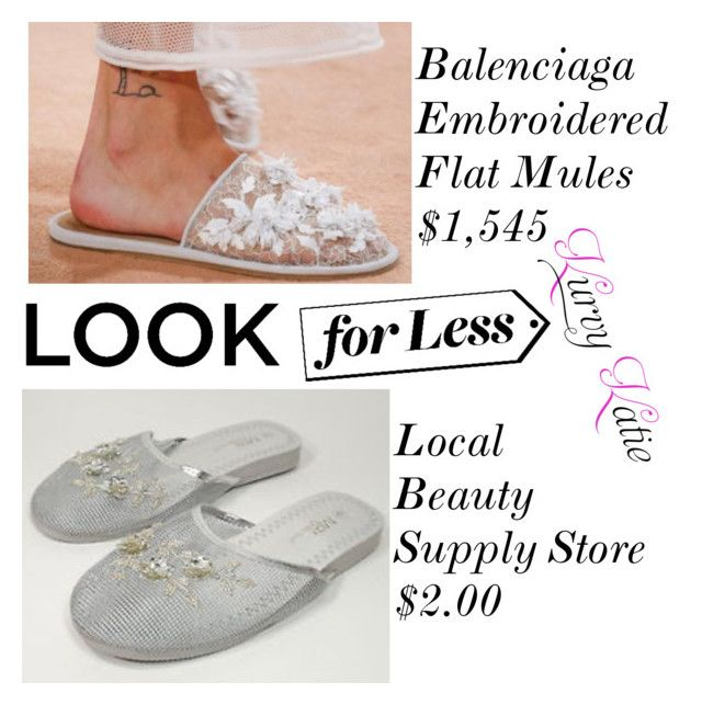 Funny By Kurvy Katie On Polyvore Featuring Balenciaga Lookforless And Rihanna Embroidered Flats Clothes Design Shoes