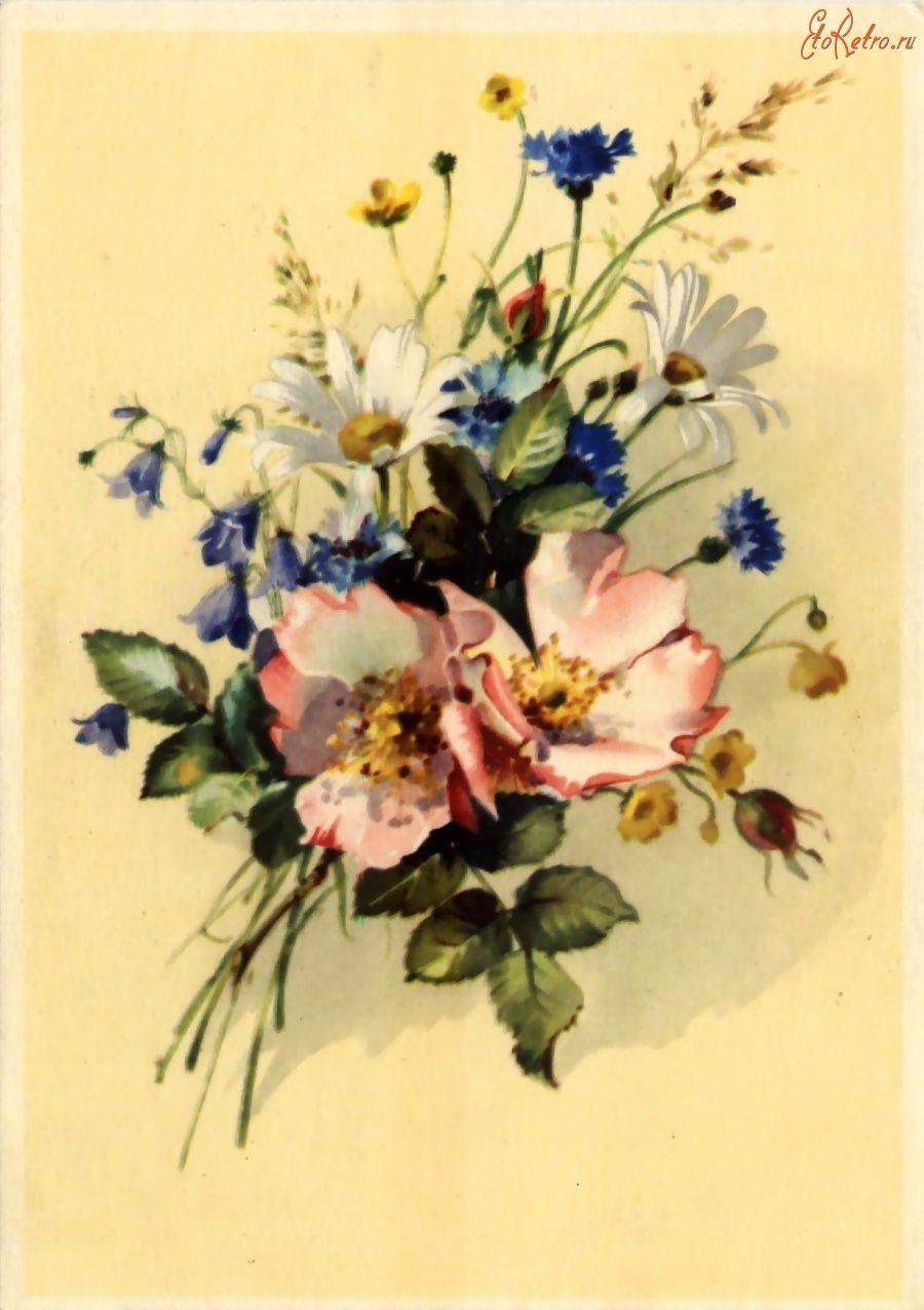 фото старинных открыток с цветами запрос кавычки