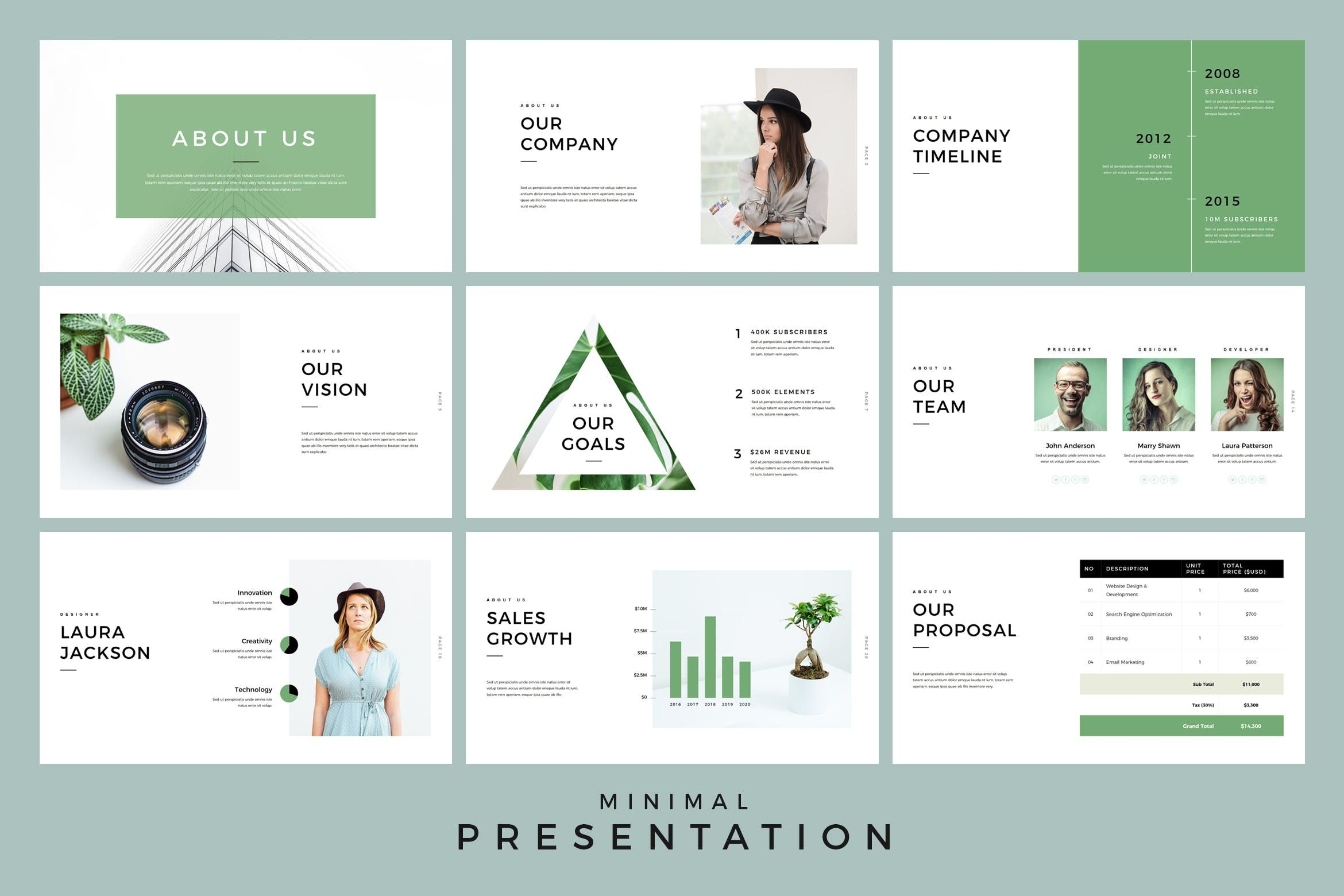 Minimal Presentation Powerpoint Template By Jafardesigns On Powerpoint Templates Keynote Template Business Powerpoint Templates