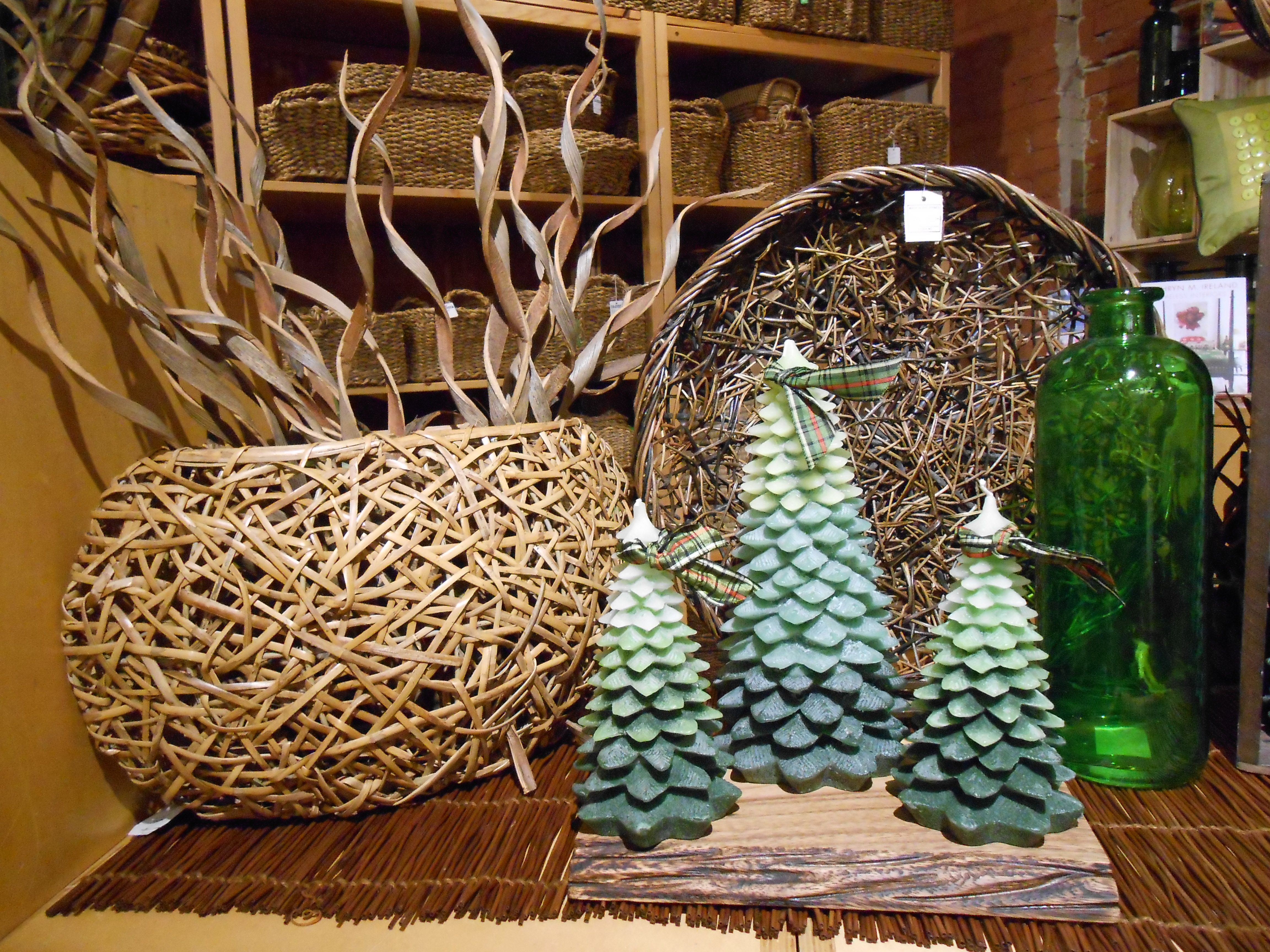 Tag tree candles! Two sizes.  Great decor or great for a Christmas gift for friend or coworker.