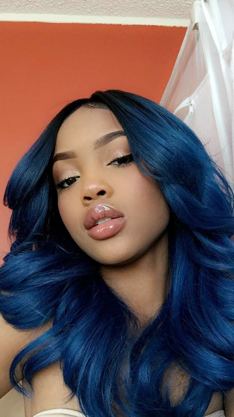 Pinterest Nandeezy Hair Styles Blue Hair Wig Hairstyles