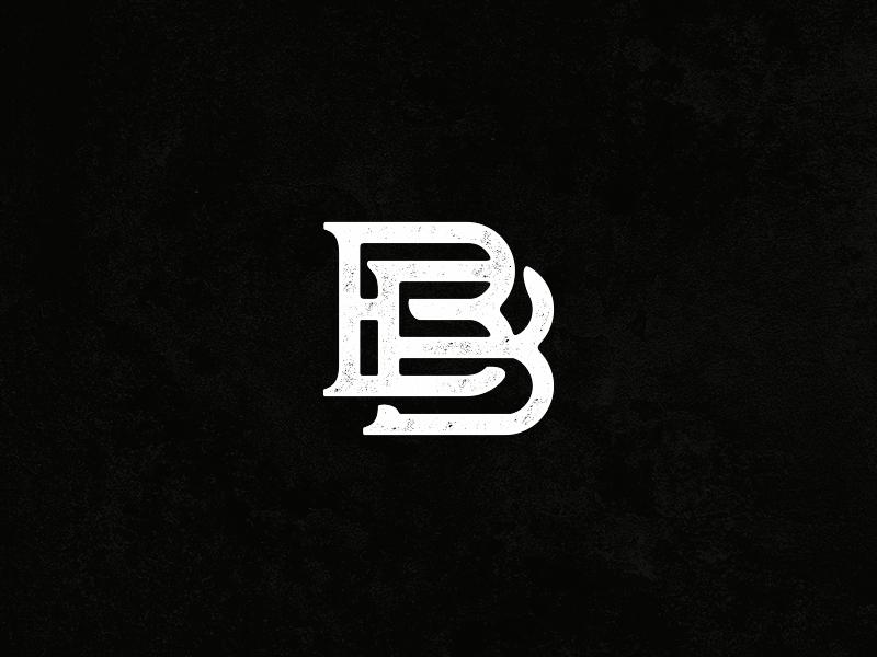 Bb monogram monogram typography logo sports brand logos for Bb logo