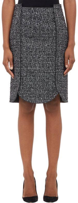 Proenza Schouler Tweed Curved-Hem Pencil Skirt Sale up to 70% off at Barneyswarehouse.com