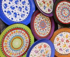 Colourful! Turkish ceramic plates - 40cm,handmade, hand painted Ottoman designs