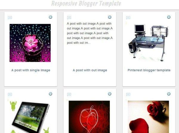 Pinterest Clone Responsive Blogger Template With Grid Layout Blogger Templates Responsive Blogger Template Grid Layouts