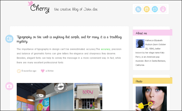 Cherry - one of the amazing vintage tumblr themes