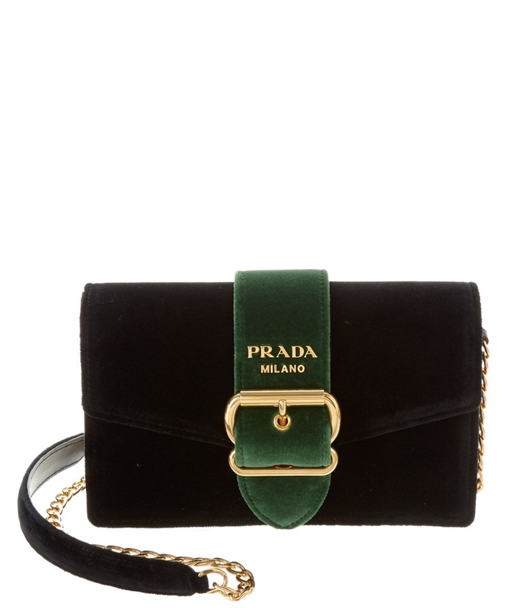 eecaeb5602f498 PRADA Prada Velvet Belt Chain Shoulder Bag'. #prada #bags #shoulder bags # leather #velvet #lining #