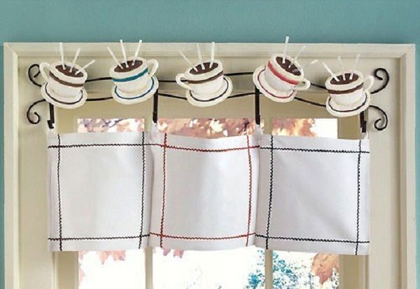 Utilize Coffee Décor for Kitchen: Coffee Print Curtains ...