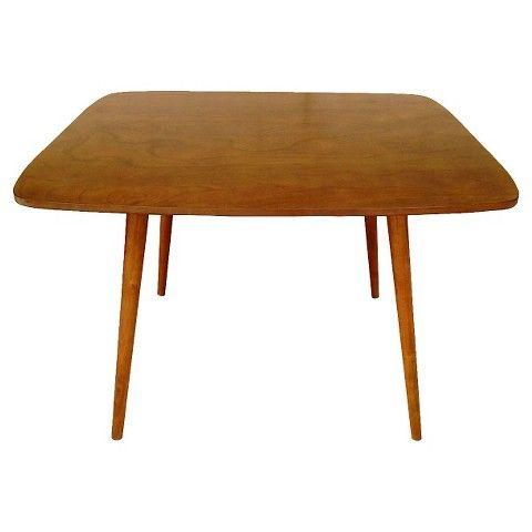 Mid Century Modern Kitchen Table sale - $180, wood veneer - mid century modern dining table - brown