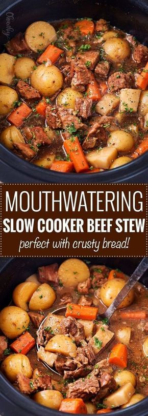 Photo of Crockpot Beef Stew (with Beer and Horseradish) – The Chunky …