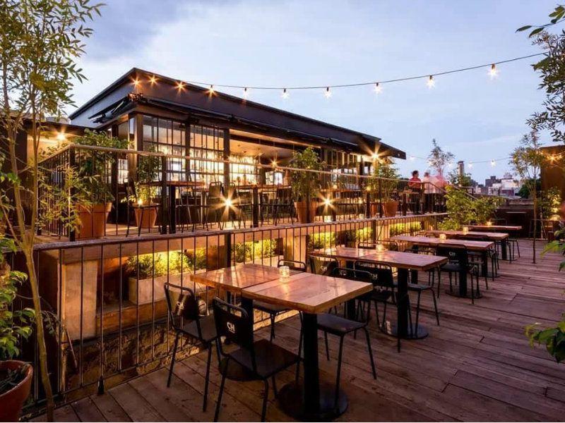 Llega A Rosario Un Bar Inspirado En Los Rooftop Neoyorkinos Restaurante Exterior Diseno De Restaurante Bar Bares Diseno