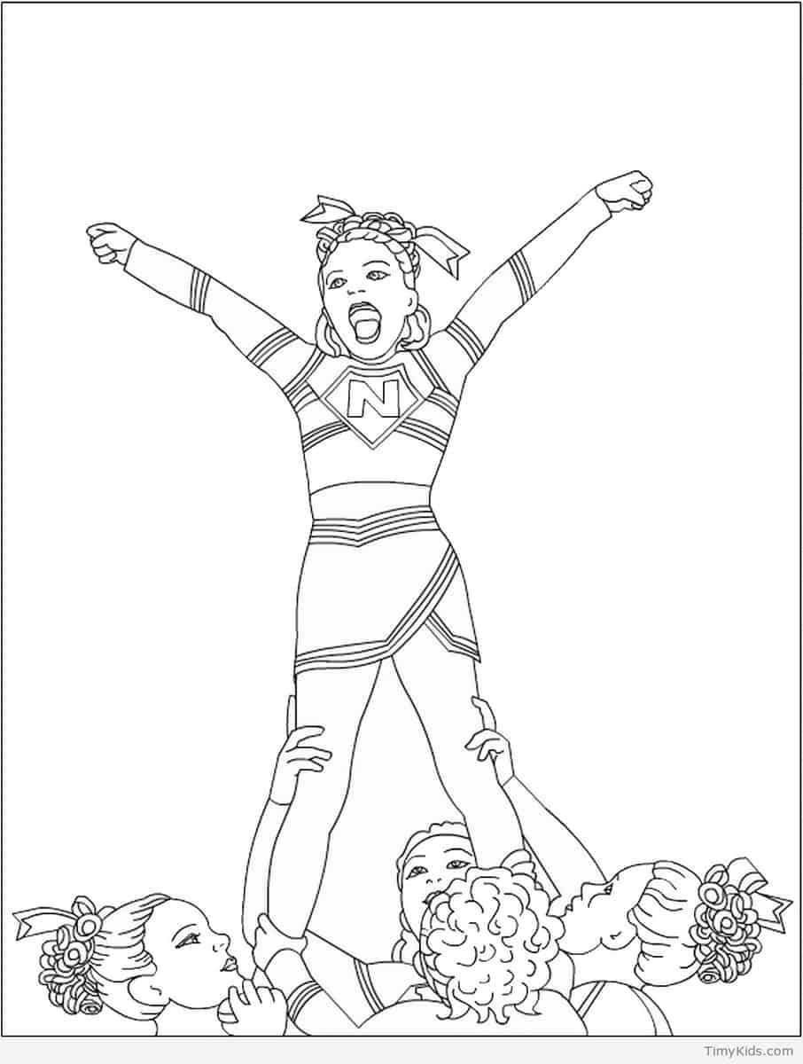 cheer coloring pages # 1