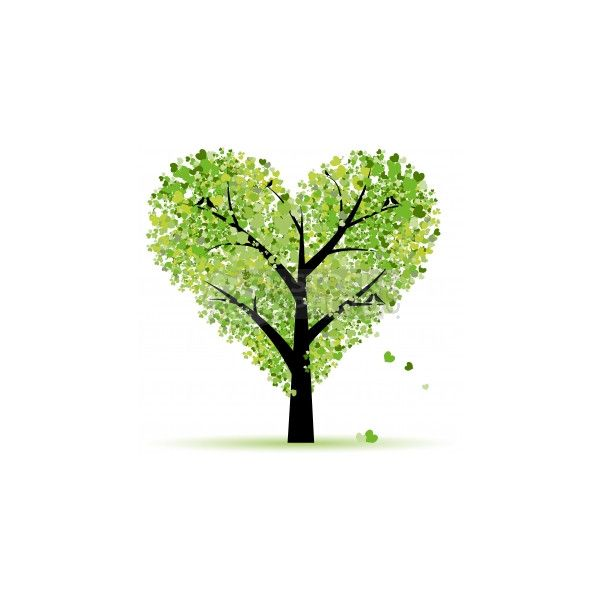 Clip Art Vector of Valentine tree, love, leaf from hearts ...