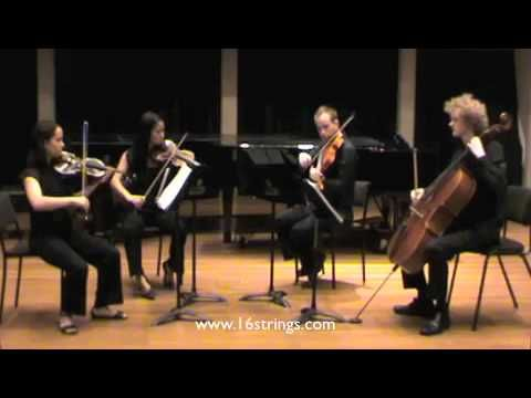 String Quartet Performance Of Love Story Recessional
